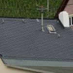 Dacheindeckung mit Eternitplatten im Format 30x30cm