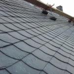 Dacheindeckung mit Schiefer im Format 30x30cm
