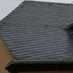 Dacheindeckung mit Schuppenschablonen